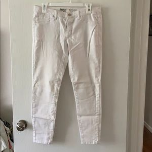 White crop jeggings